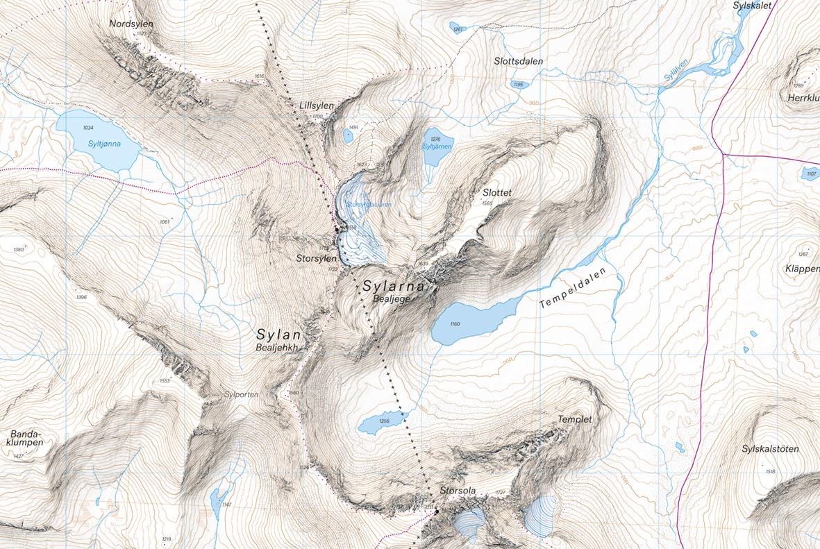 sylarna karta Calazo Högalpin Karta: Sylarna 1:20 000   Fjellpuls sylarna karta